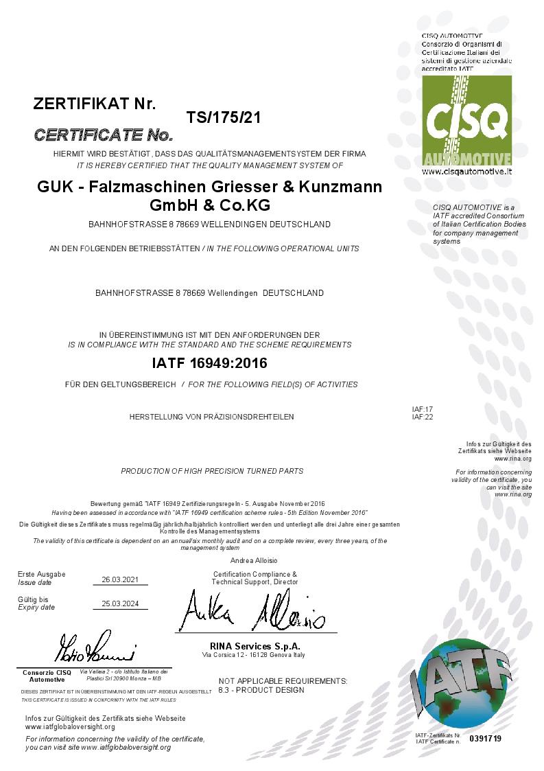 IATF/TS16949